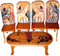 Ensemble 4chaises et table
